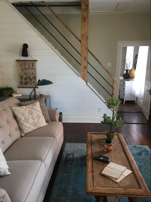 stairs shiplap